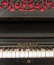 Upright grand piano Stock Image