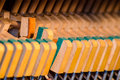 Upright piano dampers and hammers Royalty Free Stock Images