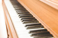 Upright piano keyboard or piano keys Royalty Free Stock Photo