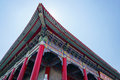 Uprisen angle of Chinese temple roof architecture Royalty Free Stock Photo