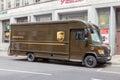 UPS truck Royalty Free Stock Photo