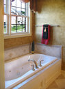 Upscale Master Bathroom Royalty Free Stock Images