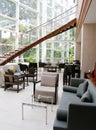 Upscale resort bar interior Royalty Free Stock Image