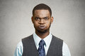 Upset angry customer business man boss executive closeup portrait young blowing steam about to have nervous atomic breakdown black Royalty Free Stock Image