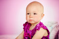 Upset baby girl sad indoor Stock Image