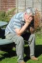 Upset elderly man. Royalty Free Stock Photo