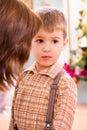 Upset preschooler boy Royalty Free Stock Photo