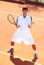 Upset tennis player Royalty Free Stock Photo