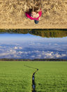 Upside-down Photo stock
