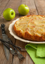 Upside down apple cake homemade Royalty Free Stock Images