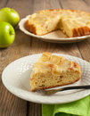 Upside down apple cake homemade Royalty Free Stock Photos