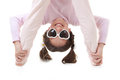 Upside down child Royalty Free Stock Images