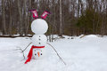 Upside down snowman Royalty Free Stock Photo