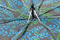 Upside down umbrella this photo shows the workings of an Stock Images