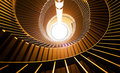 Upside view of a spiral staircase. Royalty Free Stock Photo