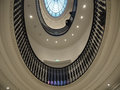 Upside view staircase spiral in glasgow scotland museum uk Stock Photos