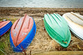 Upturned boats Royalty Free Stock Photo