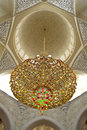 Upward shot of the ceiling inside a mosque Royalty Free Stock Images