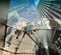 Upward view of New York City Skyscrapers Stock Images