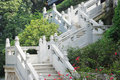 Upward white marble railings Royalty Free Stock Photos