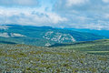 Ural mountains view of tundra and mountain in the kvarkush plateau perm krai russia Stock Images