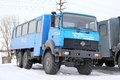 Ural novyy urengoy russia april off road bus at the city street Royalty Free Stock Photos