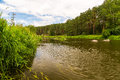 The ural river in wood russia Stock Photography