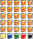 Urangesquarebuttons Royalty Free Stock Images