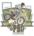 Urban adventure extreme sport emblem vector format Stock Images
