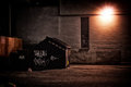 Urban Alley at Night Royalty Free Stock Photo
