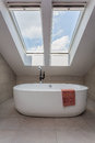 Urban apartment - modern bath Royalty Free Stock Photo