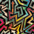 Urban arrow seamless pattern with grunge effect