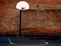 Urban Basketball Court Stock Photography