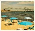 Urban beach Royalty Free Stock Photo