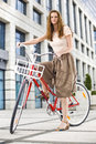 Urban bicycle ride Royalty Free Stock Photography
