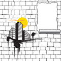 Urban blank poster Royalty Free Stock Photo
