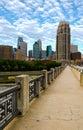 Urban Bridge Walkway Stock Photography