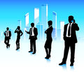 Urban businessmen and businesswomen in city Stock Image