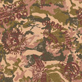 Urban camouflage with military badges grunge vector seamless pattern in custom colors Stock Photos