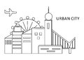 The urban city black