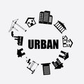 Urban city design Royalty Free Stock Image