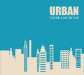 Urban city design Royalty Free Stock Images