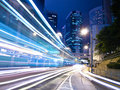 Urban City Traffic at Night Royalty Free Stock Photo