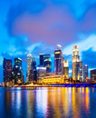 Urban cityscape in singapore at night Stock Photos