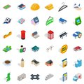 Urban development icons set, isometric style Royalty Free Stock Photo