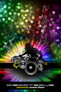 Urban Discoteque Event Background for Flyers Royalty Free Stock Image