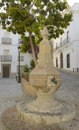 Urban fountain in Tarifa Stock Photos