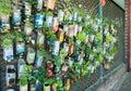Urban guerilla gardening background in Berlin City.
