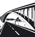 Urban highway and bridge Royalty Free Stock Image