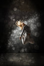 Urban hip hop dancer grunge concrete wall background Stock Image